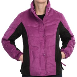 Outback Trading Burlington Down Jacket - Microsuede, Insulated (For Women) in Dark Magenta