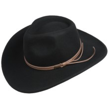 Outback Trading Cooper River Hat - UPF 50, Wool (For Men and Women) in Black - Closeouts