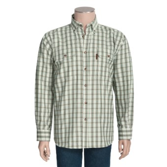 Outback Trading Drummond Plaid Shirt - Flannel, Long Sleeve (For Men) in Brown