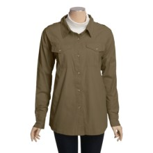Outback Trading Garment-Washed Cotton Shirt - Long Sleeve (For Women) in Olive - Closeouts