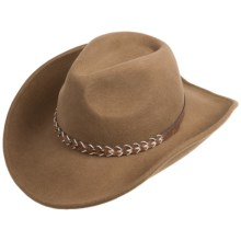 Outback Trading Leading Tracks Hat - UPF 50, Wool (For Men and Women) in Pecan - Closeouts