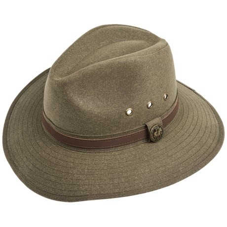 Outback Trading Rampart Hat - Oilskin Cotton (For Men and Women) in Brown