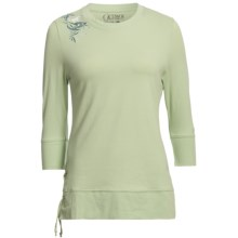 Outback Trading Running Thunder Shirt - 3/4 Sleeve (For Women) in Celery - Closeouts
