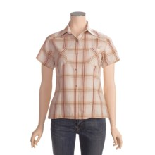 Outback Trading Rural Girl Plaid Shirt - Cotton, Short Sleeve (For Women) in Natural - Closeouts