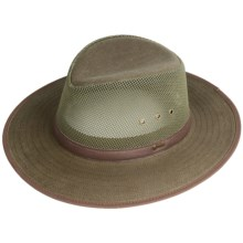 Outback Trading Safari West Hat - Oilskin Mesh (For Men and Women) in Sage - Closeouts