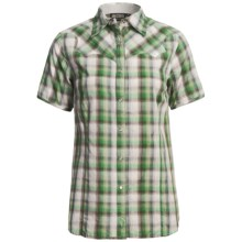 Outback Trading Silverton Western Shirt - Short Sleeve (For Women) in Spring Green - Closeouts