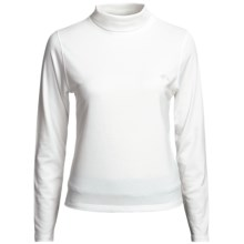 Outback Trading Stretch Turtleneck - Long Sleeve (For Women) in White - Closeouts