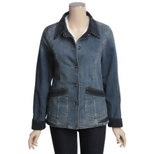 Outback Trading Weekend Jacket - Washed Denim, Corduroy Trim (For Women) in Denim - Closeouts
