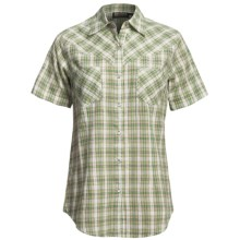 Outback Trading Windchime Shirt - Snap Front, Short Sleeve (For Women) in Spring Green - Closeouts
