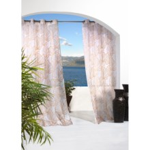 "Outdoor Decor Biscayne Sheer Indoor/Outdoor Curtains - 108x96"", Grommet Top in Sand - Closeouts"