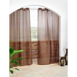 """Outdoor Decor Cote Semi-Sheer Indoor/Outdoor Curtains - 108x96"""", Grommet-Top in Chocolate"""