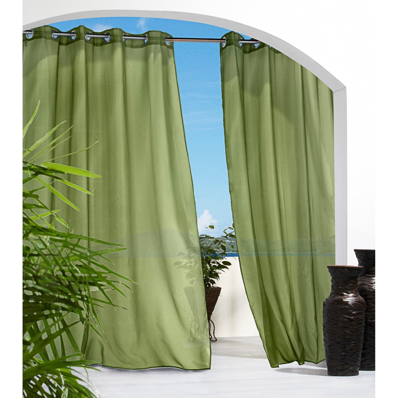 Outdoor Decor Escape Semi-Sheer Indoor/Outdoor Curtains - 108x108