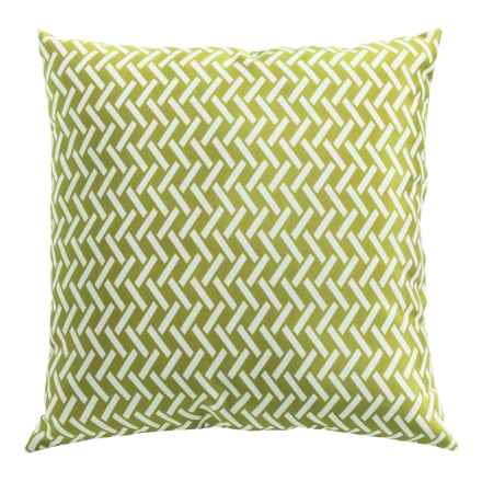 """Outdoor Decor Indoor-Outdoor Pillow - 18x18"""" in Green - Overstock"""