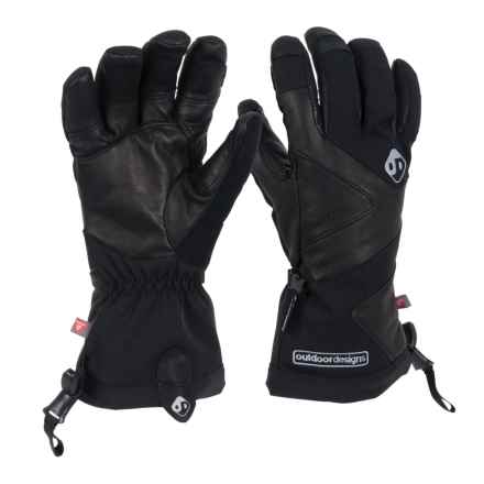 Outdoor Designs Denali Gloves - Waterproof, insulated (For Men and Women) in Black - Closeouts