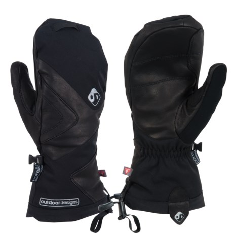 Outdoor Designs Denali Mittens - Waterproof, Insulated (For Men and Women) in Black