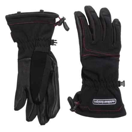Outdoor Designs Diablo Polartec® Windbloc® Gloves - Insulated (For Men and Women) in Black - Closeouts