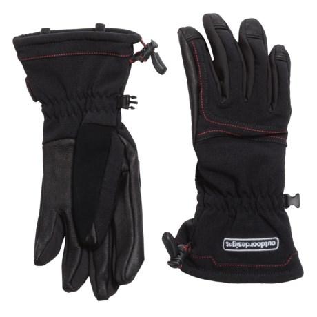 Outdoor Designs Diablo Polartec® Windbloc® Gloves - Insulated (For Men and Women) in Black