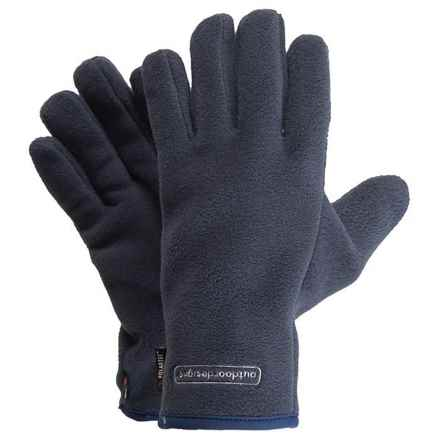 Outdoor Designs Fuji Gloves - Polartec® Fleece (For Men and Women) in Navy - Closeouts