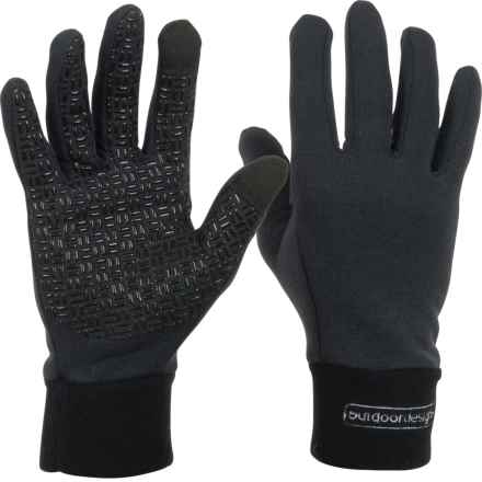 Outdoor Designs Poweron Polartec® Wool Grip Gloves - Touchscreen Compatible (For Men and Women) in Black - Closeouts