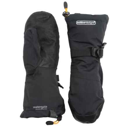 Outdoor Designs Summit Pro Mittens (For Men and Women) in Black - Closeouts