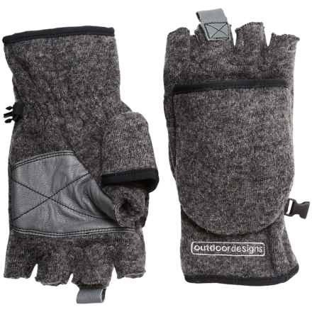 Outdoor Designs Tyrol Convertible Gloves (For Men and Women) in Charcoal - Closeouts