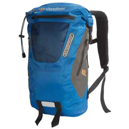 Outdoor Products Amphibian 20L Backpack - Waterproof, Roll Top in Directoire Blue - Closeouts