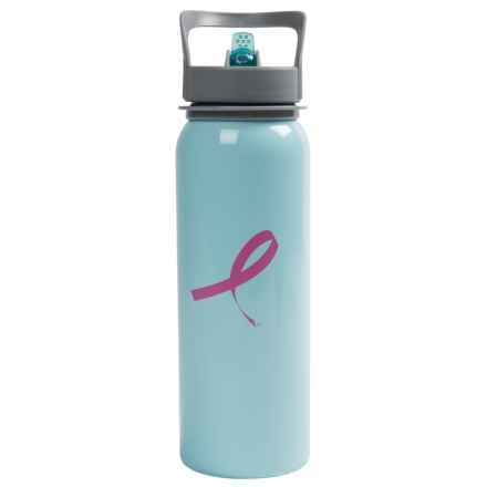Outdoor Products Breast Cancer Awareness Water Bottle in Light Blue - Closeouts