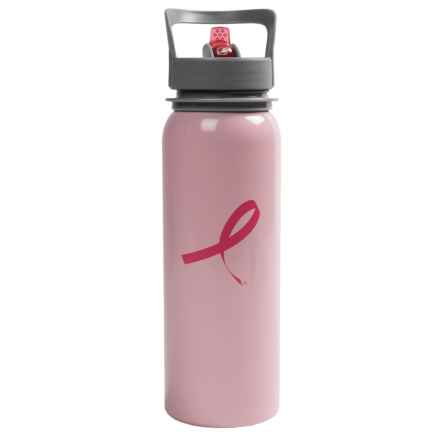 Outdoor Products Breast Cancer Awareness Water Bottle in Light Pink - Closeouts