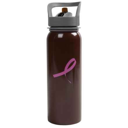 Outdoor Products Breast Cancer Awareness Water Bottle in Raisin - Closeouts