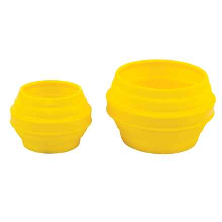 Outdoor Products Collapsible Silicone Bowl and Cup Set in Yellow - Closeouts