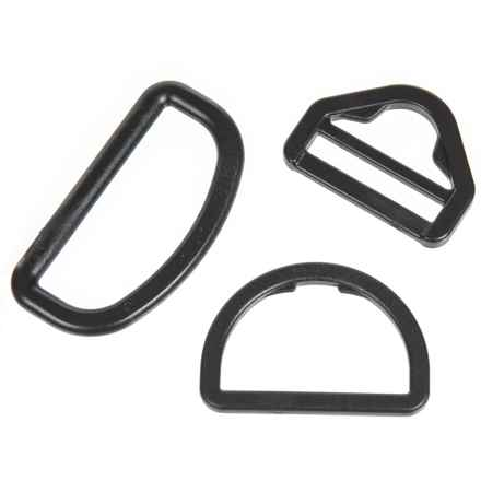 Outdoor Products D-Rings Replacement Kit - 3-Piece Set in Black - Closeouts