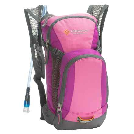 Outdoor Products Hydration Pack - 1L Reservoir (For Kids) in Rose Violet - Closeouts