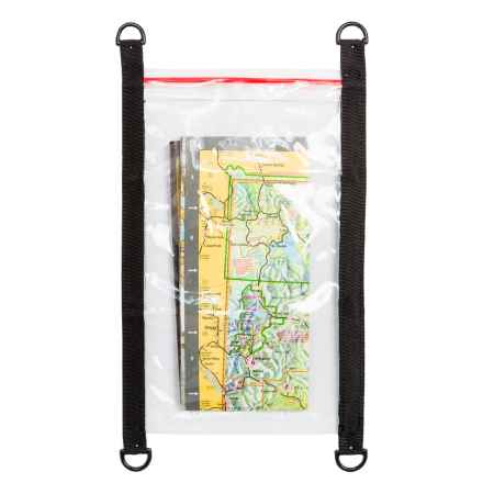 "Outdoor Products Vinyl Map Pouch - 11.8x6.5"" in Black - Closeouts"