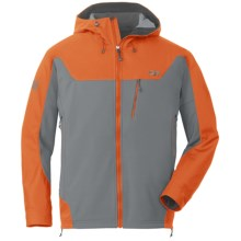 Outdoor Research Alibi Jacket - Soft Shell (For Men) in Pewter/Ember - Closeouts