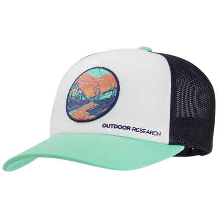 4a31ee21d64 Outdoor Research Alpenglow Trucker Hat (For Women) in Tahiti - Closeouts