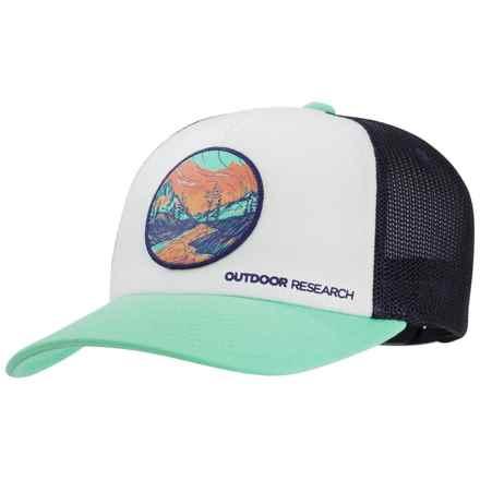 Outdoor Research Alpenglow Trucker Hat (For Women) in Tahiti - Closeouts 03c4fef13b04