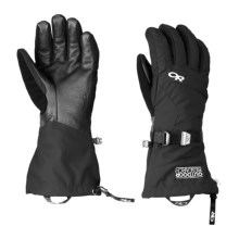 Outdoor Research Ambit Touch-Screen Gloves - Waterproof, Insulated (For Men) in Black/Charcoal - Closeouts