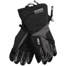 Outdoor Research Arete Gore-Tex® Insulated Gloves - Waterproof (For Men) in Black/Slate - Closeouts