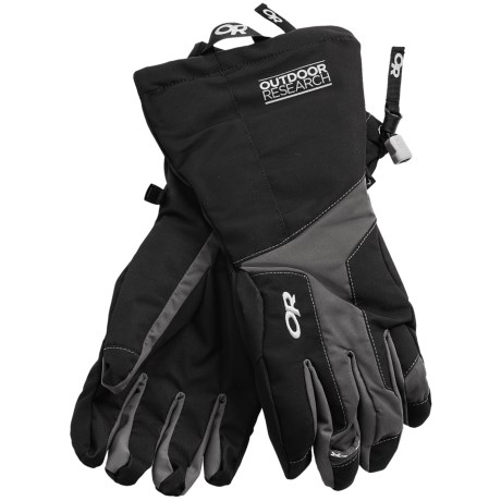 Outdoor Research Arete Gore-Tex® Insulated Gloves - Waterproof (For Men) in Black/Slate