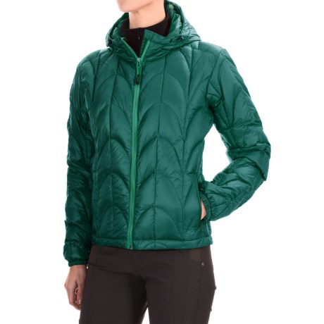 Outdoor Research Aria Down Hooded Jacket - 650 Fill Power (For Women) in Atlantis/Aquarium