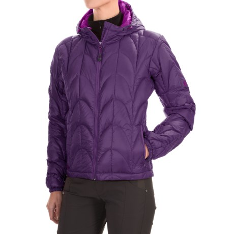 Outdoor Research Aria Down Hooded Jacket - 650 Fill Power (For Women) in Elderberry