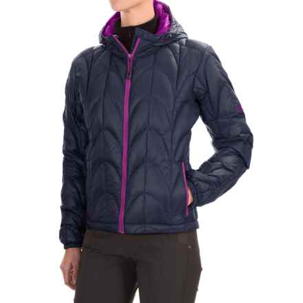 Outdoor Research Aria Down Hooded Jacket - 650 Fill Power (For Women) in Night/Ultraviolet - Closeouts