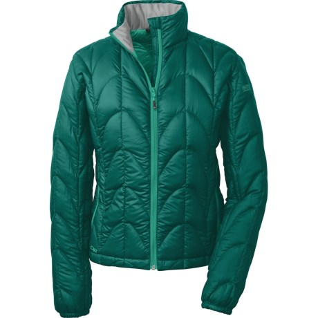 Outdoor Research Aria Down Jacket - 650 Fill Power (For Women) in Atlantis/Aquarium