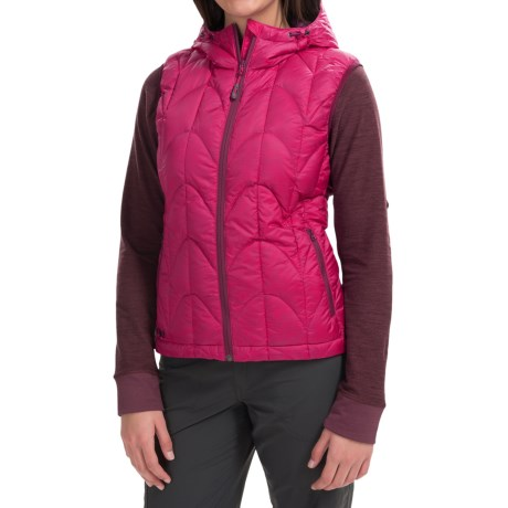 Outdoor Research Aria Down Vest - 650 Fill Power (For Women) in Desert Sunrise/Mulberry