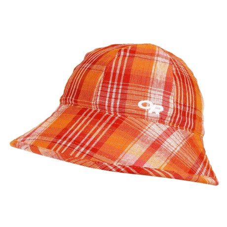Outdoor Research Arroyo Reversible Bucket Hat - UPF 30 (For Women) in Mandarin Plaid