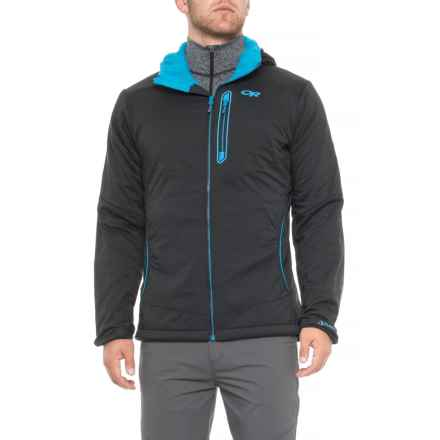 Outdoor Research Ascendant Nimbus Polartec® Alpha® Hooded Jacket - Insulated (For Men) in Black/Tahoe - Closeouts