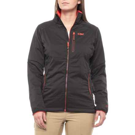 Outdoor Research Ascendant Polartec® Alpha® Jacket - Insulated (For Women) in Black/Flame - Closeouts