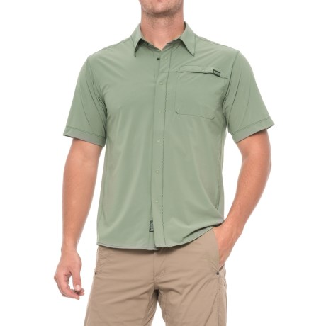 Outdoor Research Astroman Shirt - UPF 50+, Short Sleeve (For Men) in Sage Green