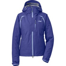 Outdoor Research Axcess Gore-Tex® Jacket - Waterproof, Insulated (For Women) in Sapphire - Closeouts