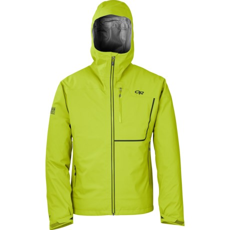 Outdoor Research Axiom Gore-Tex® Soft Shell Jacket - Waterproof (For Men) in Lemongrass/Evergreen